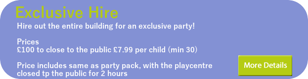 exclusive playcentre hire